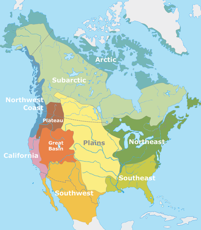 AP US History Native American Cultural Diversity - Us native american map