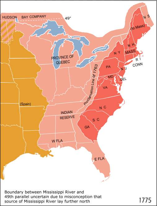 AP US History End Of Salutary Neglect - Ap map of us