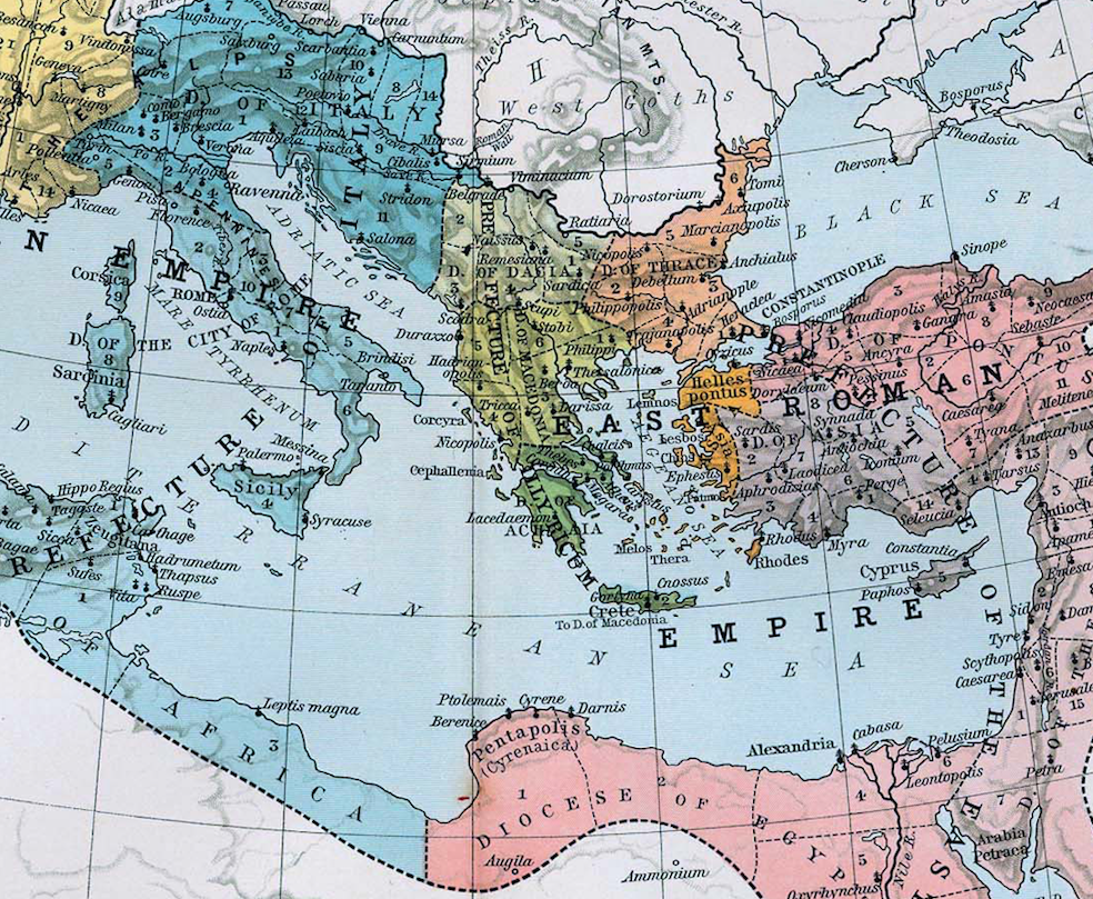 Ap world history the western and eastern divisions selection of the above map gumiabroncs Choice Image